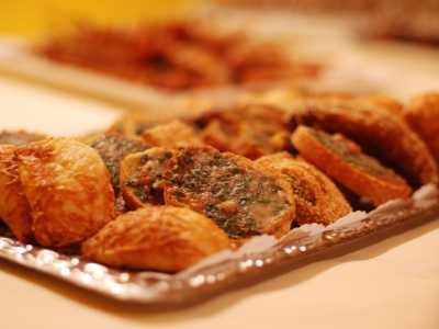 Kaltes Buffet Croustini mit Gorgonzola